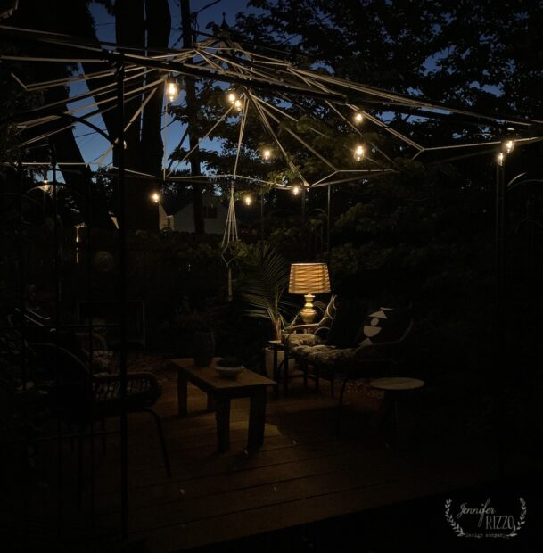 Solar powered string lights and solar powered lamp