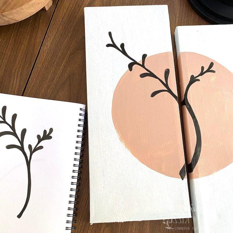 How to Make DIY Abstract  Multi-Panel Art