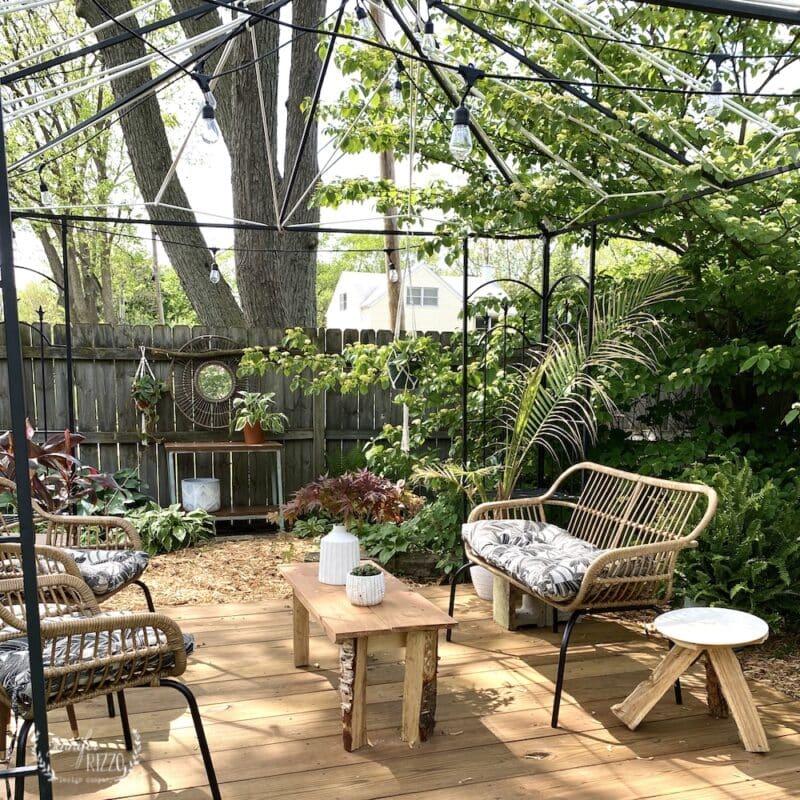 DIY outdoor rustic tables