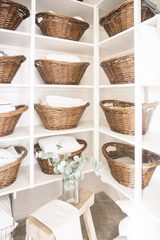 Just Destiny Organized Laundry room