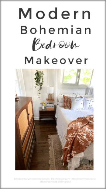 Modern Bohemian Bedroom Makeover Decorating Idea