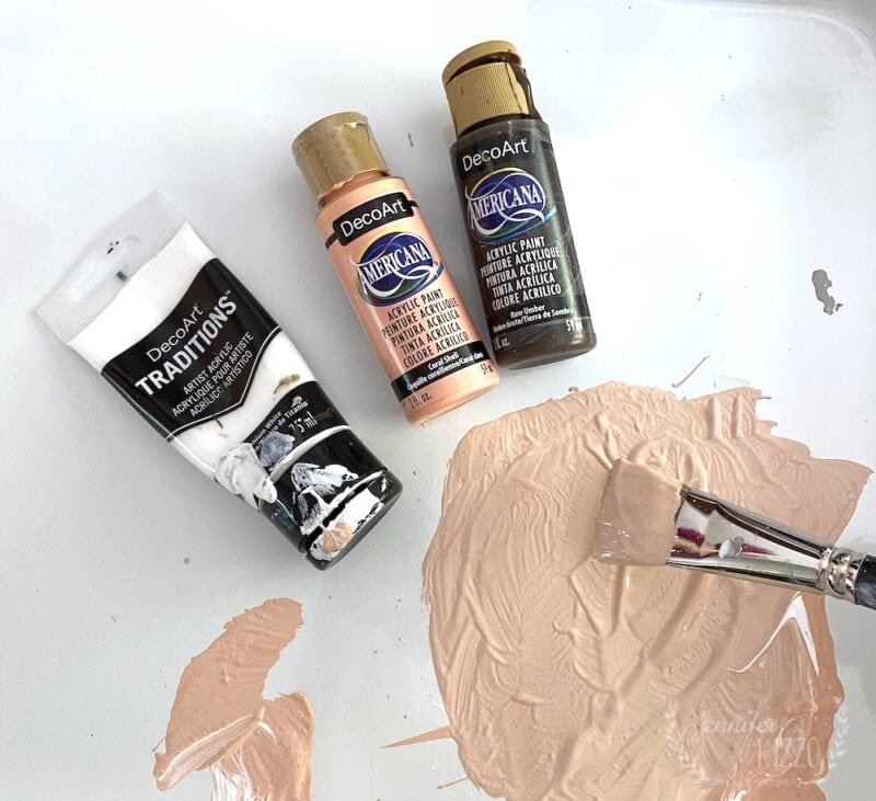 Paint supplies used in creating abstract art