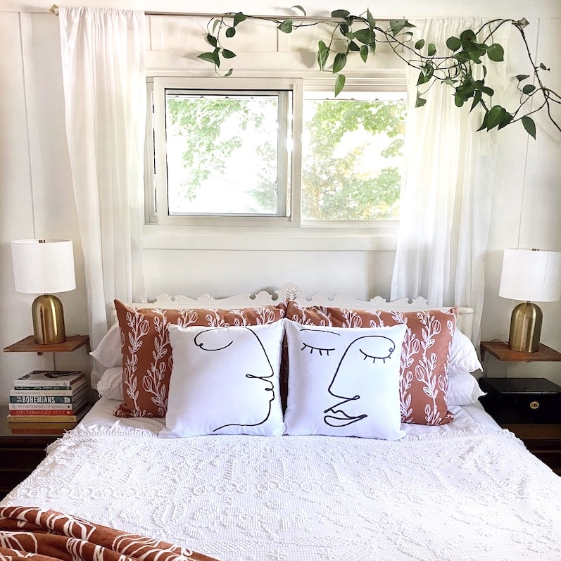 Modern Bohemian Bedroom Makeover and Our Wood Floors