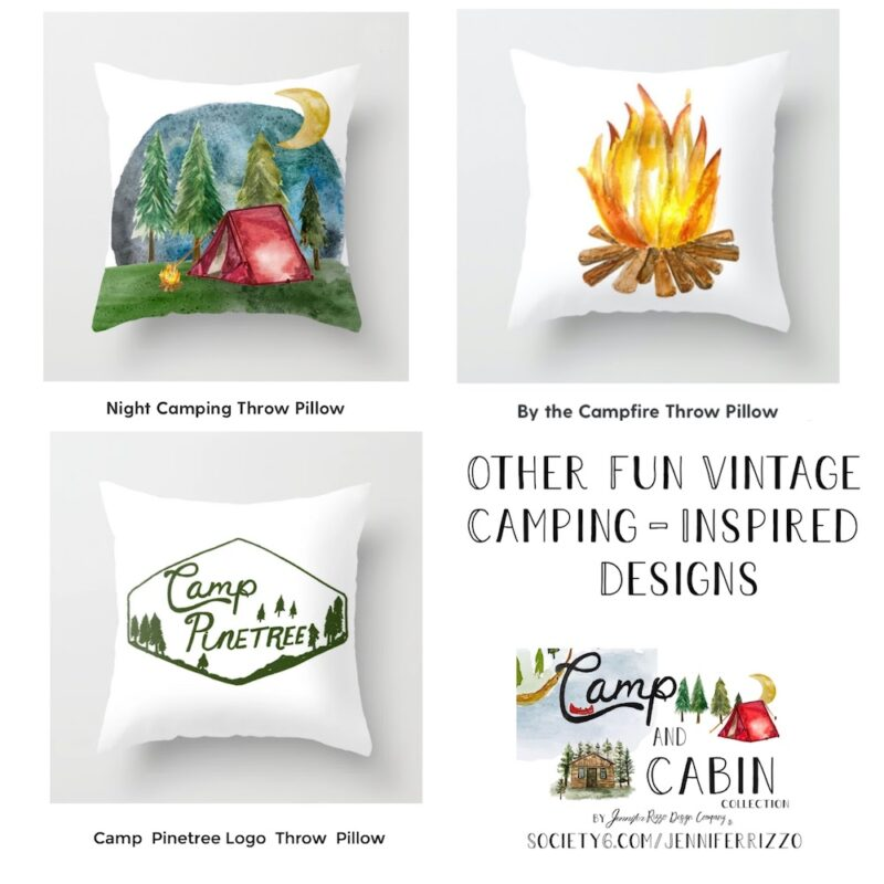 VIintage camping Designs by Jennifer Rizzo