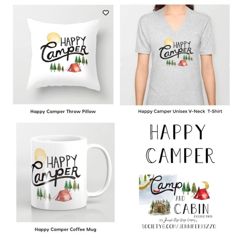 Happy camper Design Jennifer Rizzo