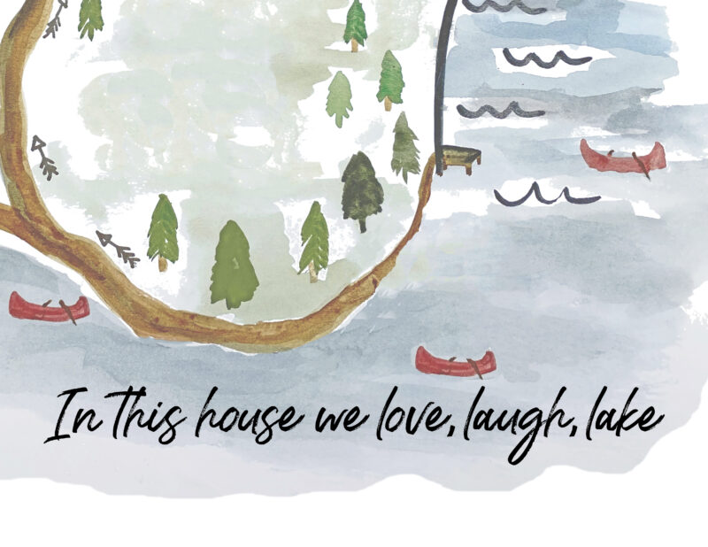 In this house we love,laugh, lake free printable