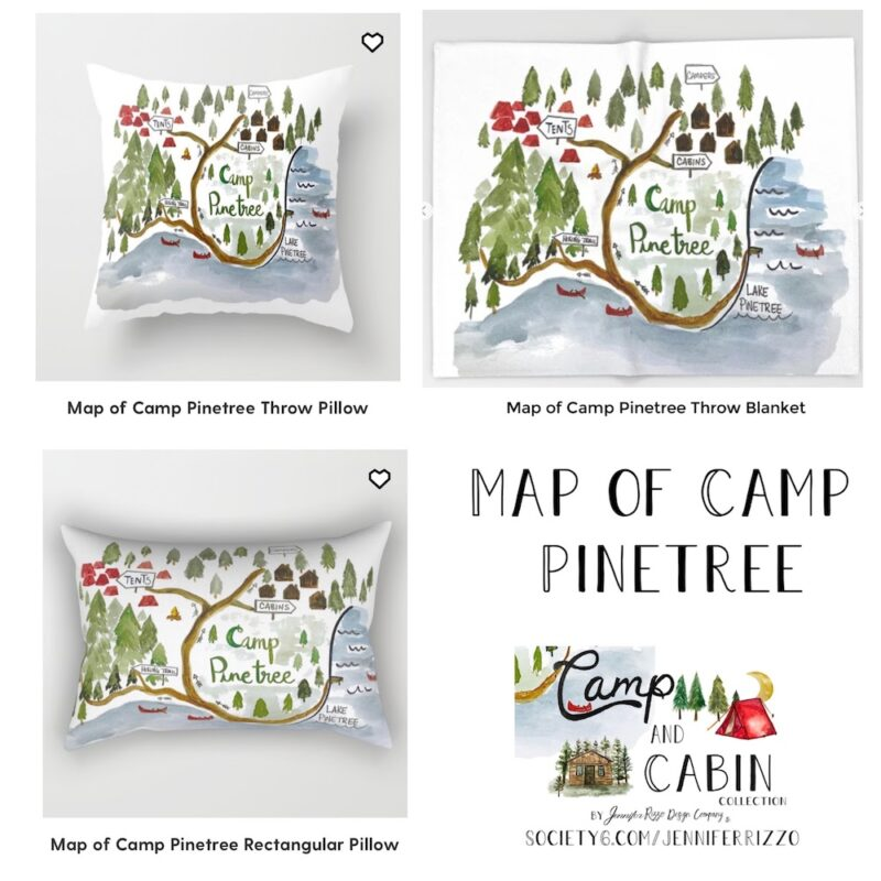 Map of Camp PInetree