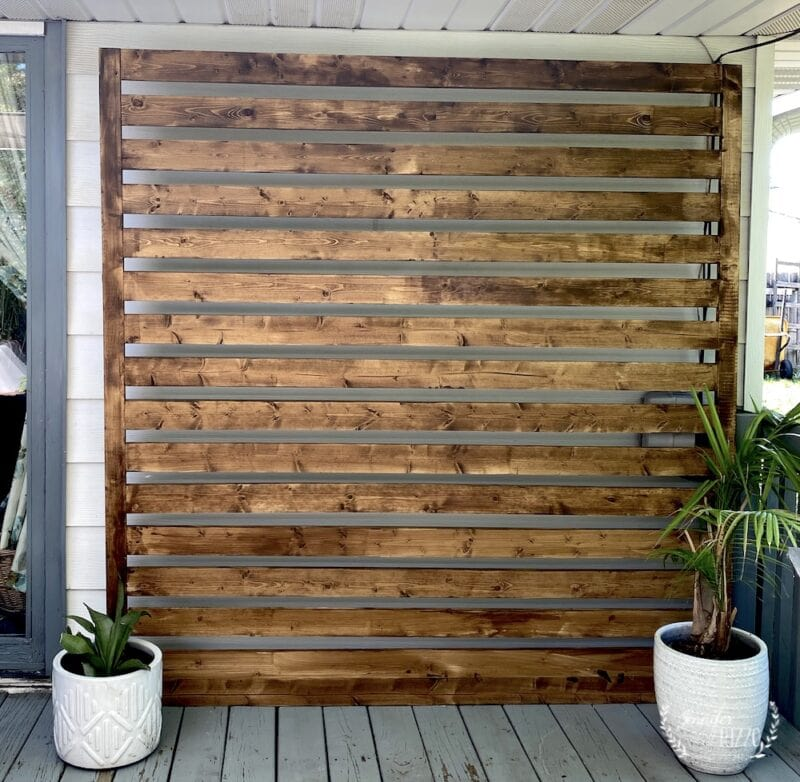 A decrative wood panel for on the deck