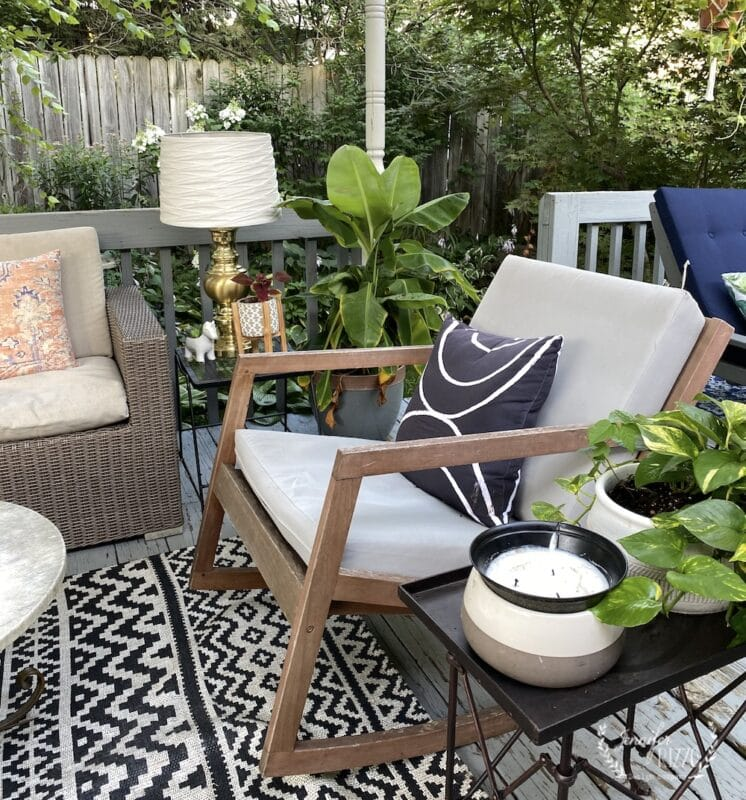 Rocking chairs on patio