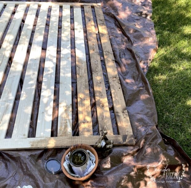 Staining a wood panel for decoration