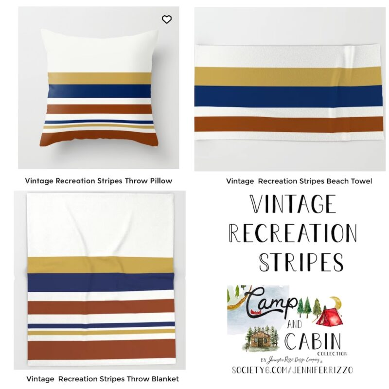 Vintage recreation stripes designs Jennifer Rizzo