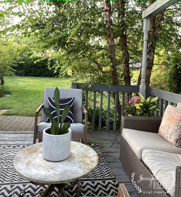 Back deck and yard view
