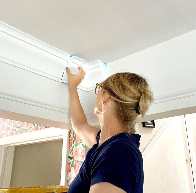 Adding smaller pieces of foam crown molding to a ceiling