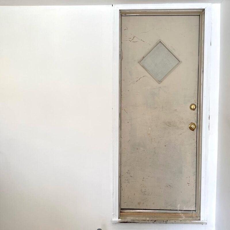 Old door before painting