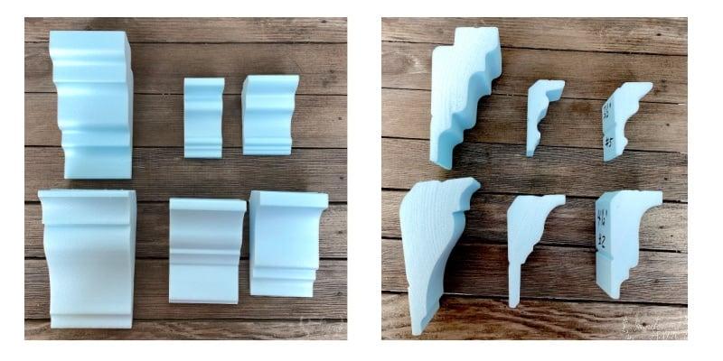 Foam crown molding styles