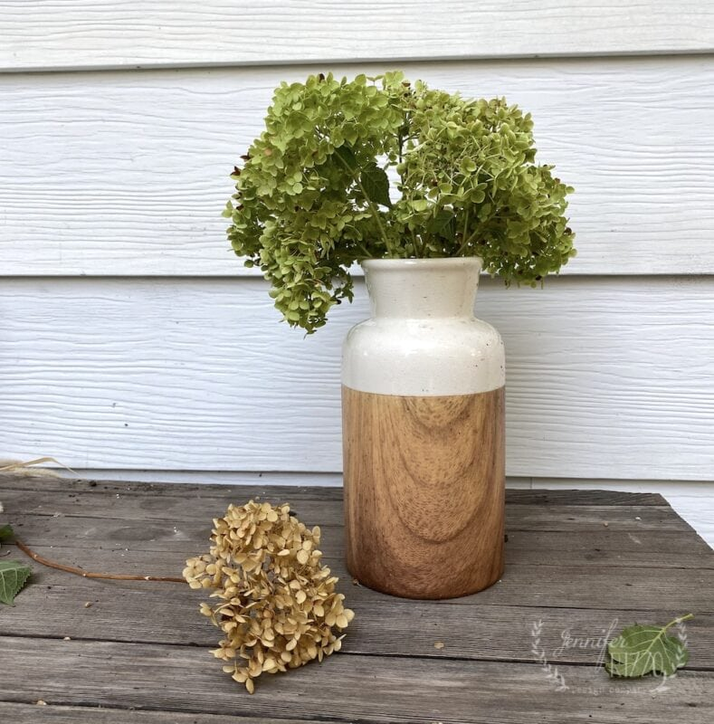 Fresh and Dried hydrangea difference