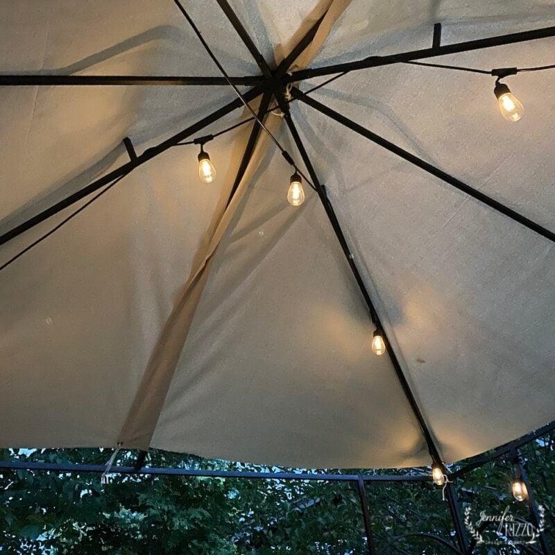 Inisde of DIY canopy