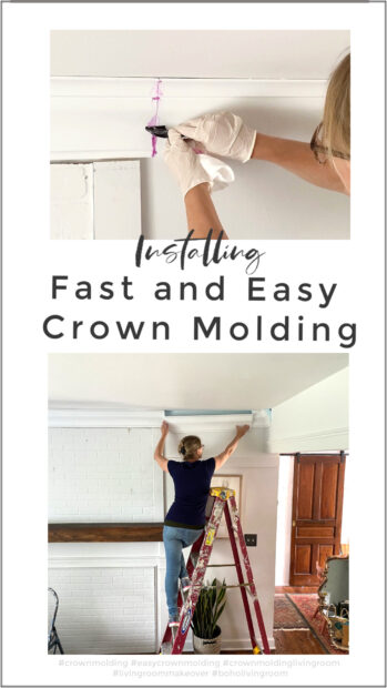 Adding fast and easy foam crown molding