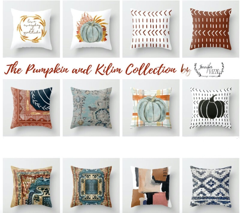 Jennifer Rizzo Design Company Fall Pillow Designs