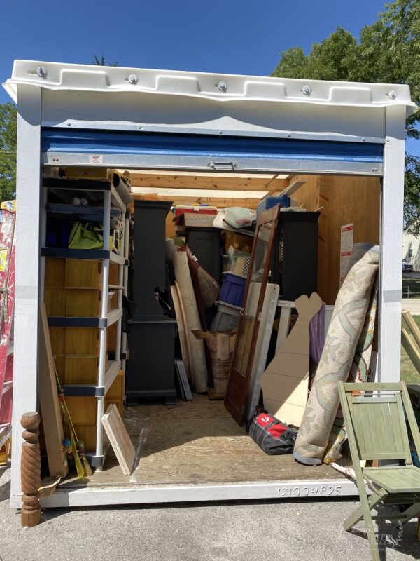 storage pod is a great way to keep stuff stored during renovations