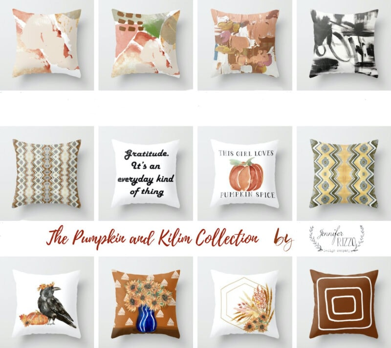 Fall pillow collection by Jennifer Rizzo