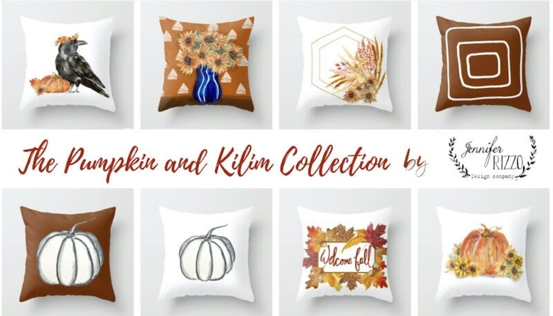 Fall pillows by Jennifer Rizzo Design Company