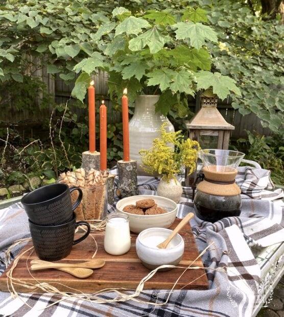 Create a simple fall coffee date gathering
