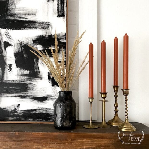 Make a DIY painted black vase with clay