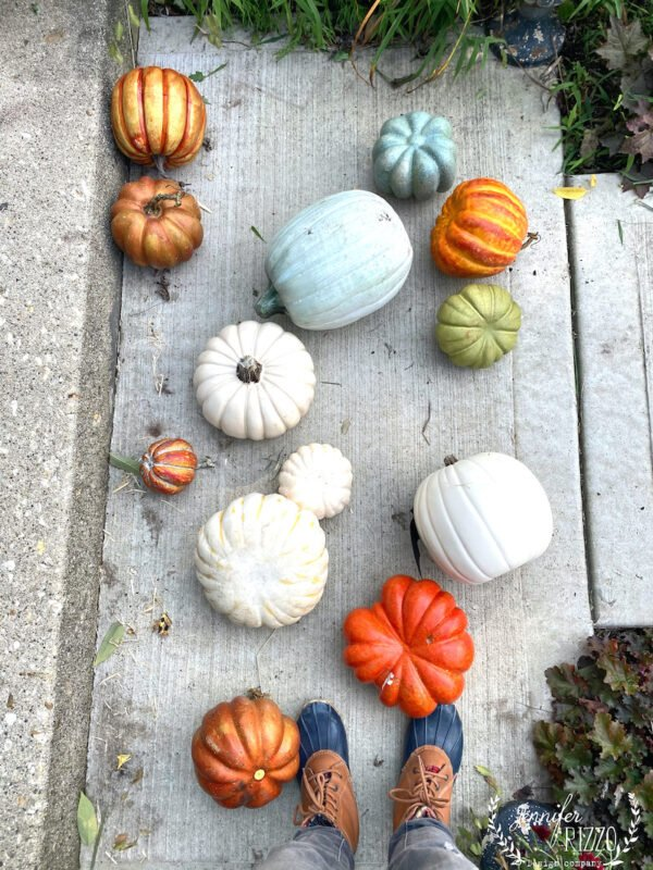 Faux pumpkins for decorating