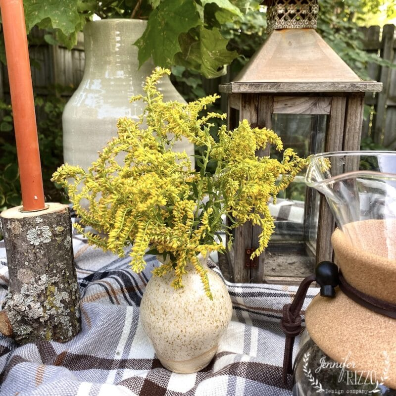 Golden rod in a small vase