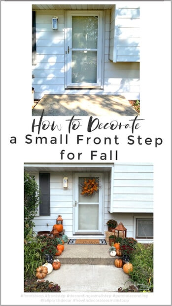 How to decorate your small front step and stoop for fall