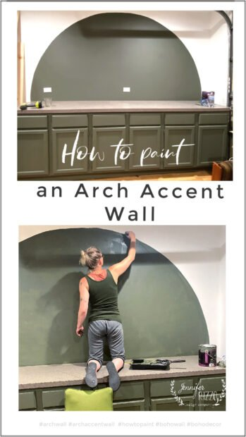 How to paint an arch accent wall easliy with string