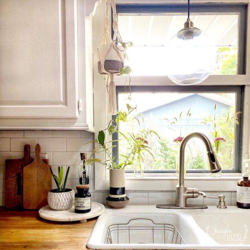 Kitchen boho window view