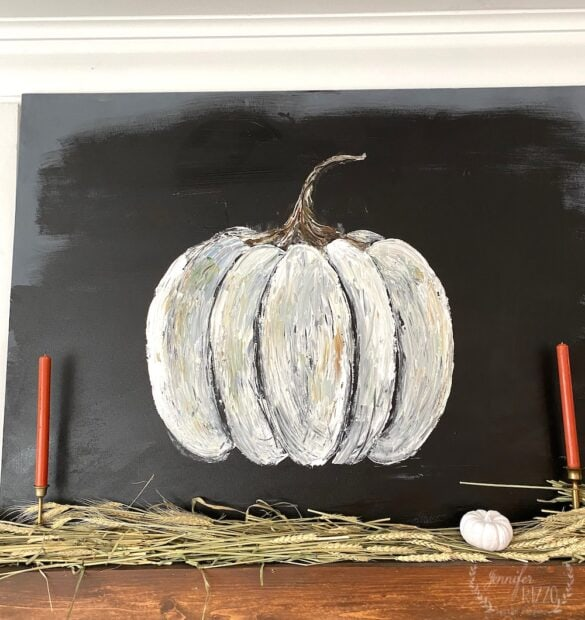 You can paint this rustic DIY painted pumpkin canvas