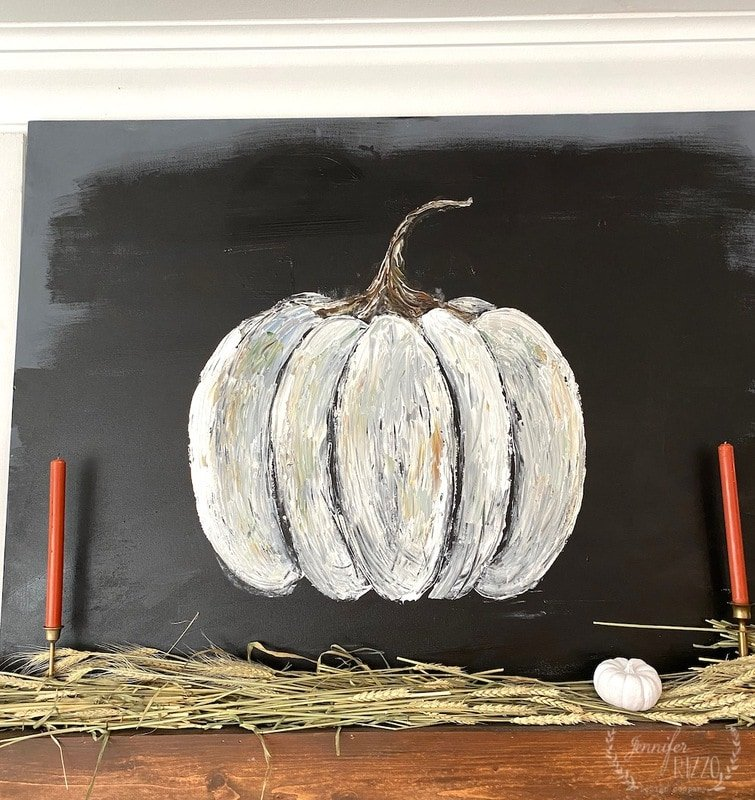 How to Paint a DIY Rustic Pumpkin on Canvas