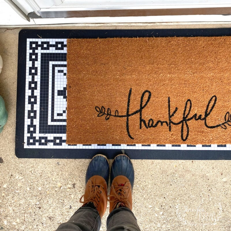 Thankful Mat for front door