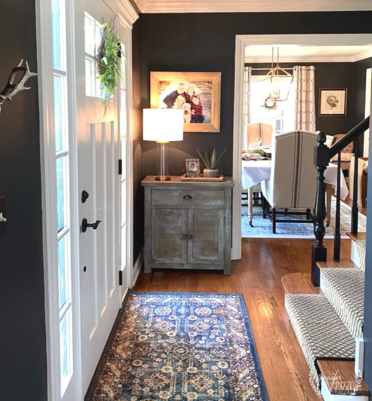 Dark gray entry way foyer