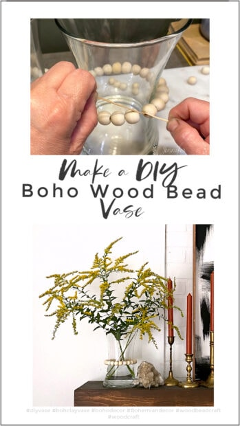 Make an easy DIY boho wood bead vase