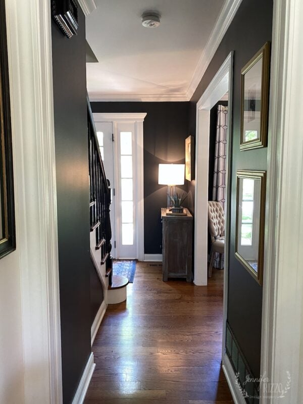 Dark gray foyer wall color