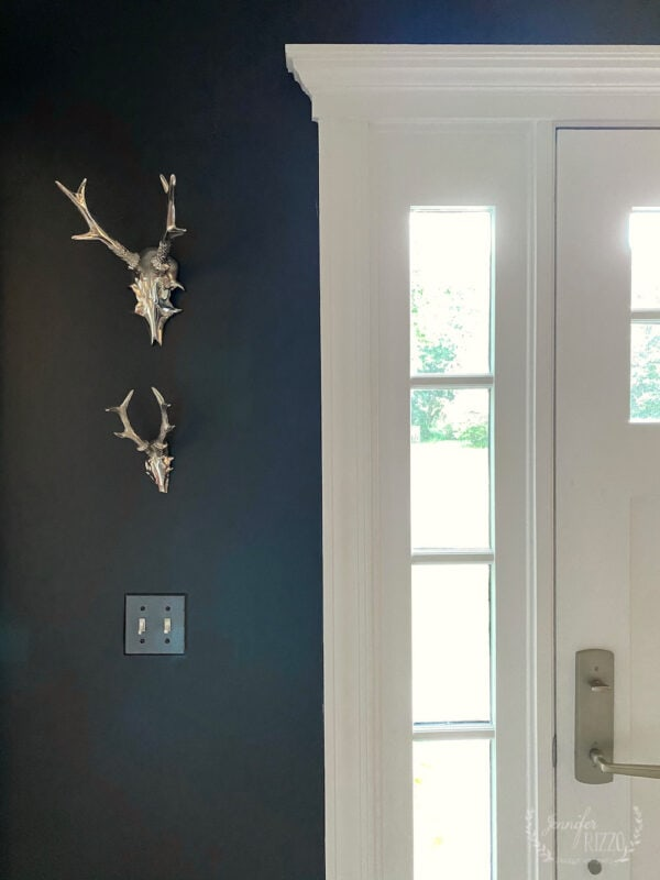 Dark gray painted foyer