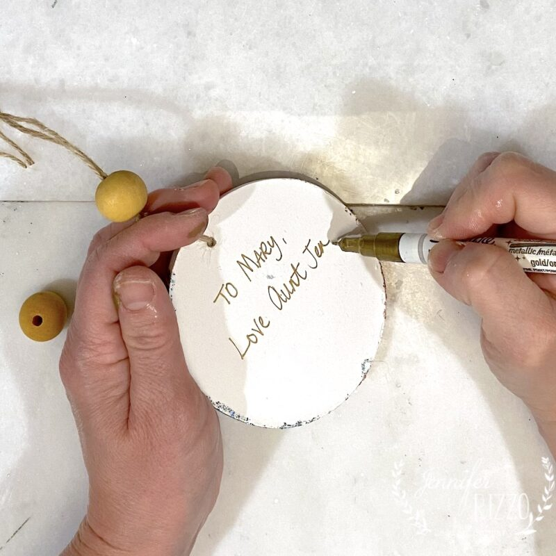 Personalize the back of an ornament