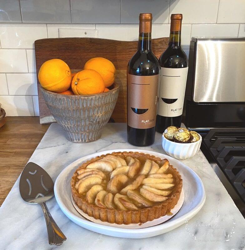 Apple pie and wine