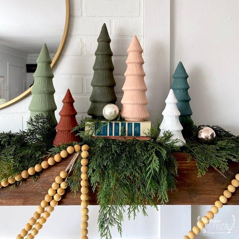 Baking Soda Paint Christmas Trees