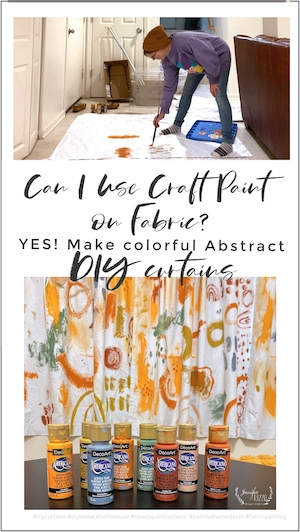 Can I paint on fabric with craft paint