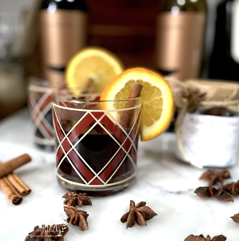 Slow Cooker Mulled Wine with Orange and Spices