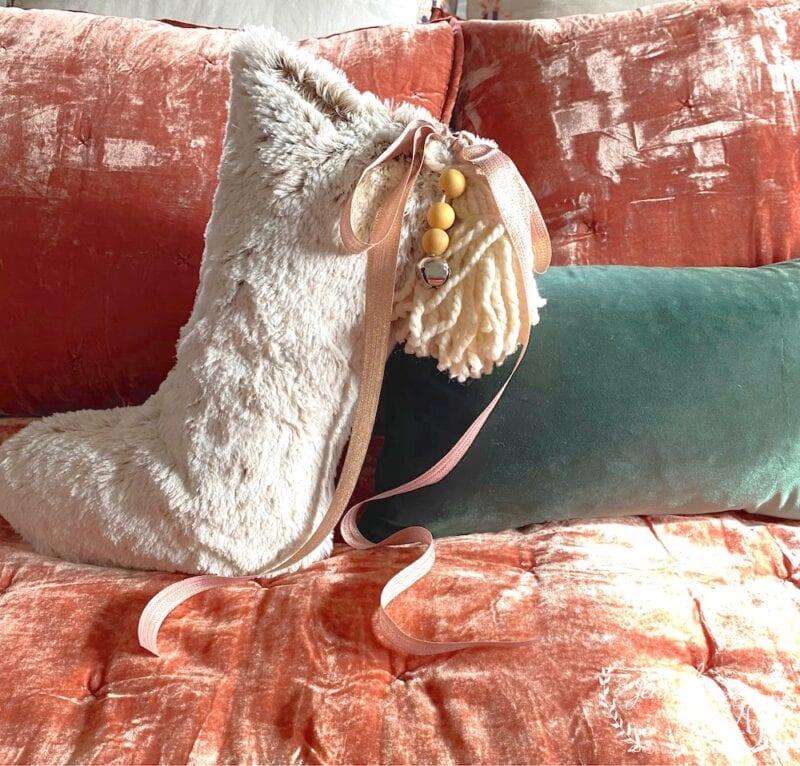 DIY Christmas Stocking Pillow
