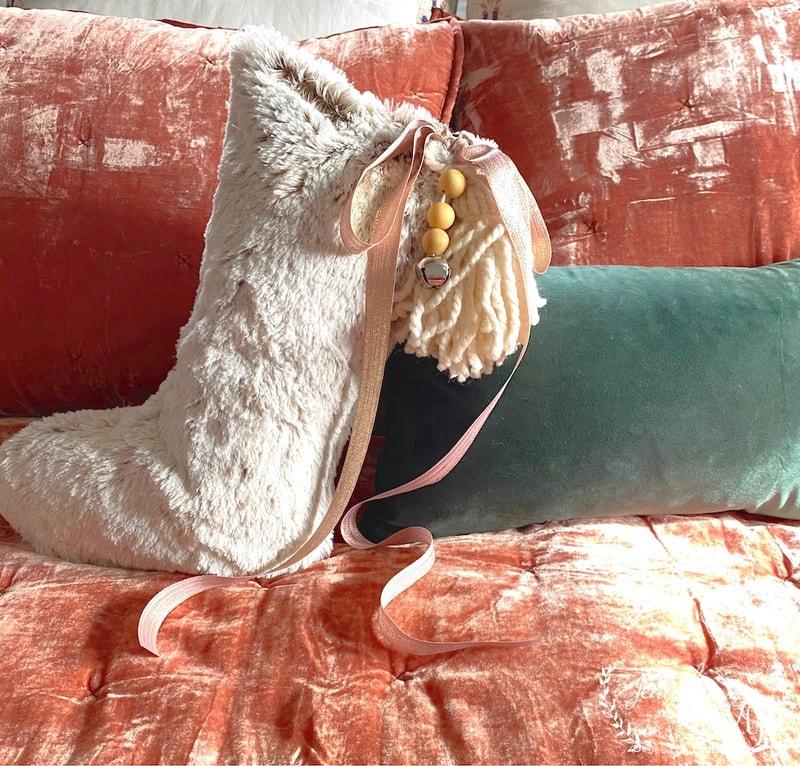 Let's Make Something- DIY Christmas Stocking Pillow
