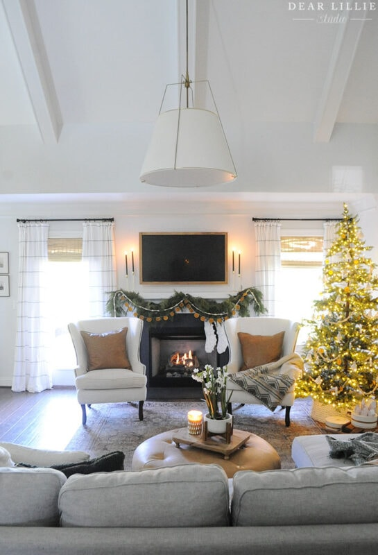 Dear Lillie's Christmas Living Room