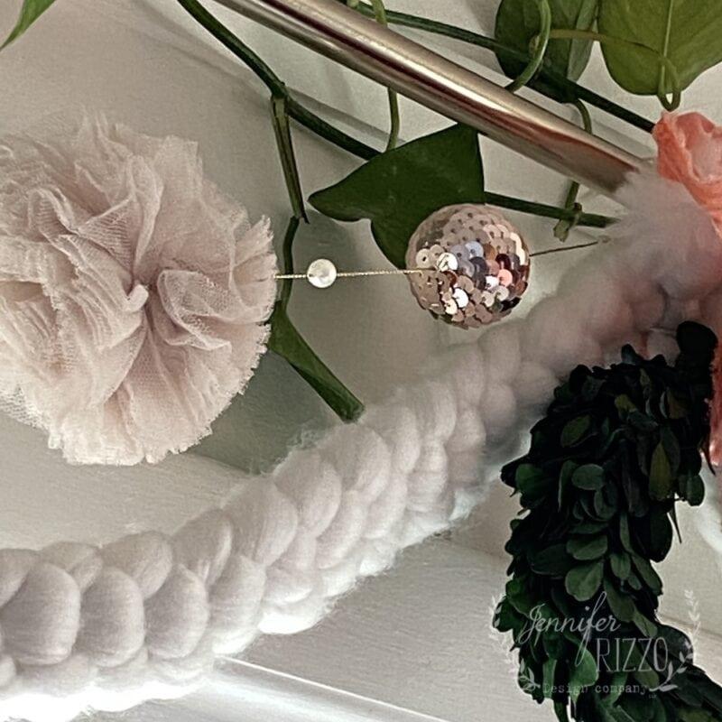 Glitter ball garland