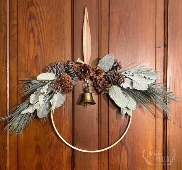 DIY embriodery hoop wreath